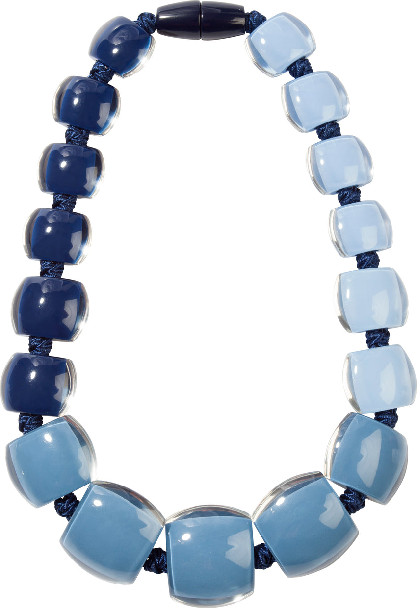 7240101SKYYQ17 necklace BELLISSIMA 17beads magnet, sky