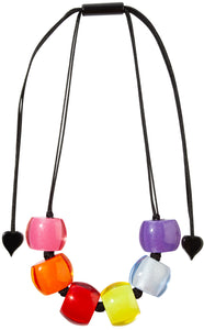 72401050400Q06 necklace BELLISSIMA 6beads adjust, spectrum