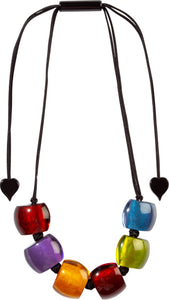 72401050499Q06 necklace BELLISSIMA 6beads adjust, newspectrum