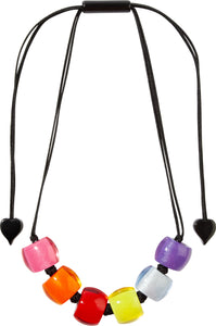 72401060400Q06 necklace BELLISSIMA 6beads adjust, spectrum