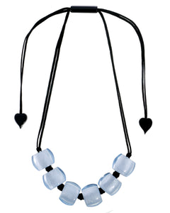 72401069060Q06 necklace BELLISSIMA 6beads adjust, blue