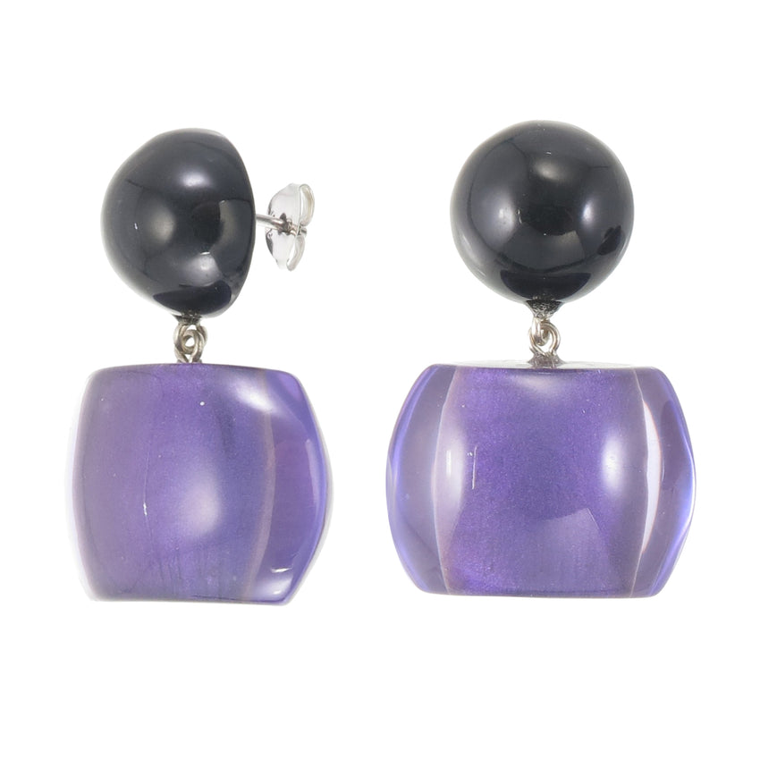 72405019170Q00 earring BELLISSIMA 2beads pin, purple