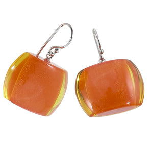 72405029016Q00 earring BELLISSIMA 1beads shorthook, orangeinyellow