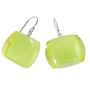 72405029019Q00 earring BELLISSIMA 1beads shorthook, limeinlime