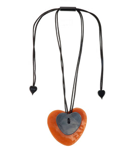 7290203DOK6Q00 pendant DOK MAI 1bead adjust, orange/grey