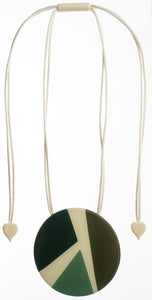 7350201GREEQ00,pendant ABBA 1bead adjust, green