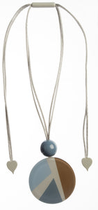 7350202BLUEQ00,pendant ABBA 2beads adjust, blue