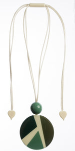 7350202GREEQ00,pendant ABBA 2beads adjust, green