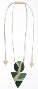 7350204GREEQ00,pendant ABBA 2beads adjust, green