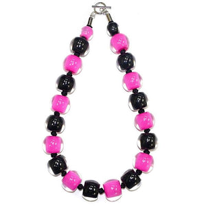 40101030491Q20 Colourful Beads Black Pink 0491 Q20 #