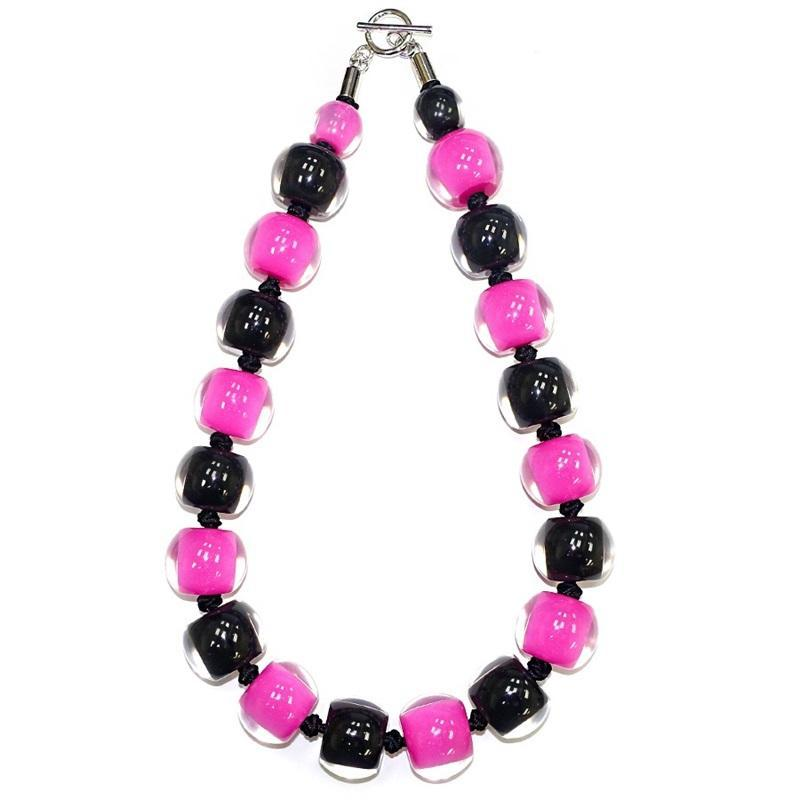 40101310491Q20 Colourful Beads Black Pink 0491 Q20 #