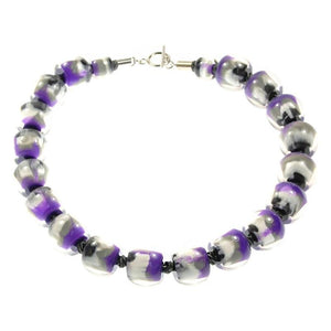 4010103MP13Q20 Colourful Beads PurpGreyMarble MP13 Q20 #