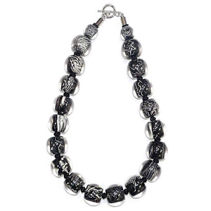 4010131MP17Q20 Colourful Beads black white Marble MP17 Q20 #