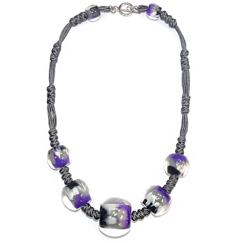 4010104MP13Q07 Colourful Beads PurpGreyMarble MP13 Q07 #