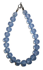 40101069060Q23 Necklace 106 colorfulbeads2 blue bead /blue cord 9060