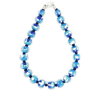 4010106MP11Q23 Colourful Beads BlueturqMarble MP11 Q23 #