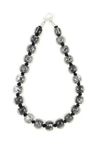 4010106MP17Q23 Colourful Beads Black WhiteMarble MP17 Q23 #