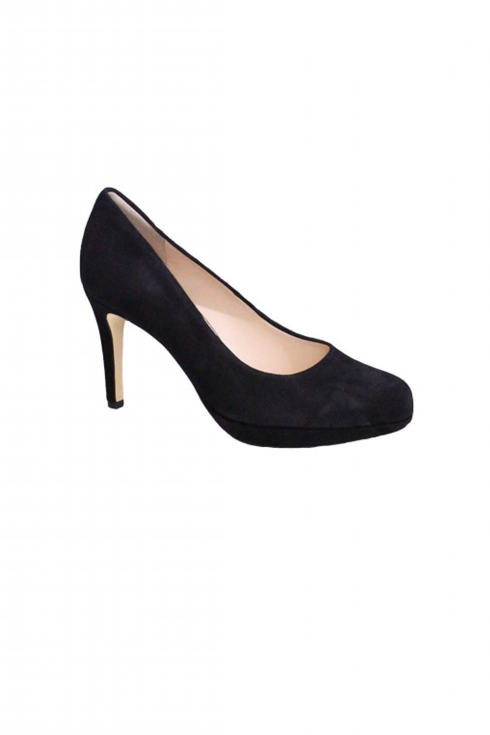 Black Suede Hogl Heel Style and Grace