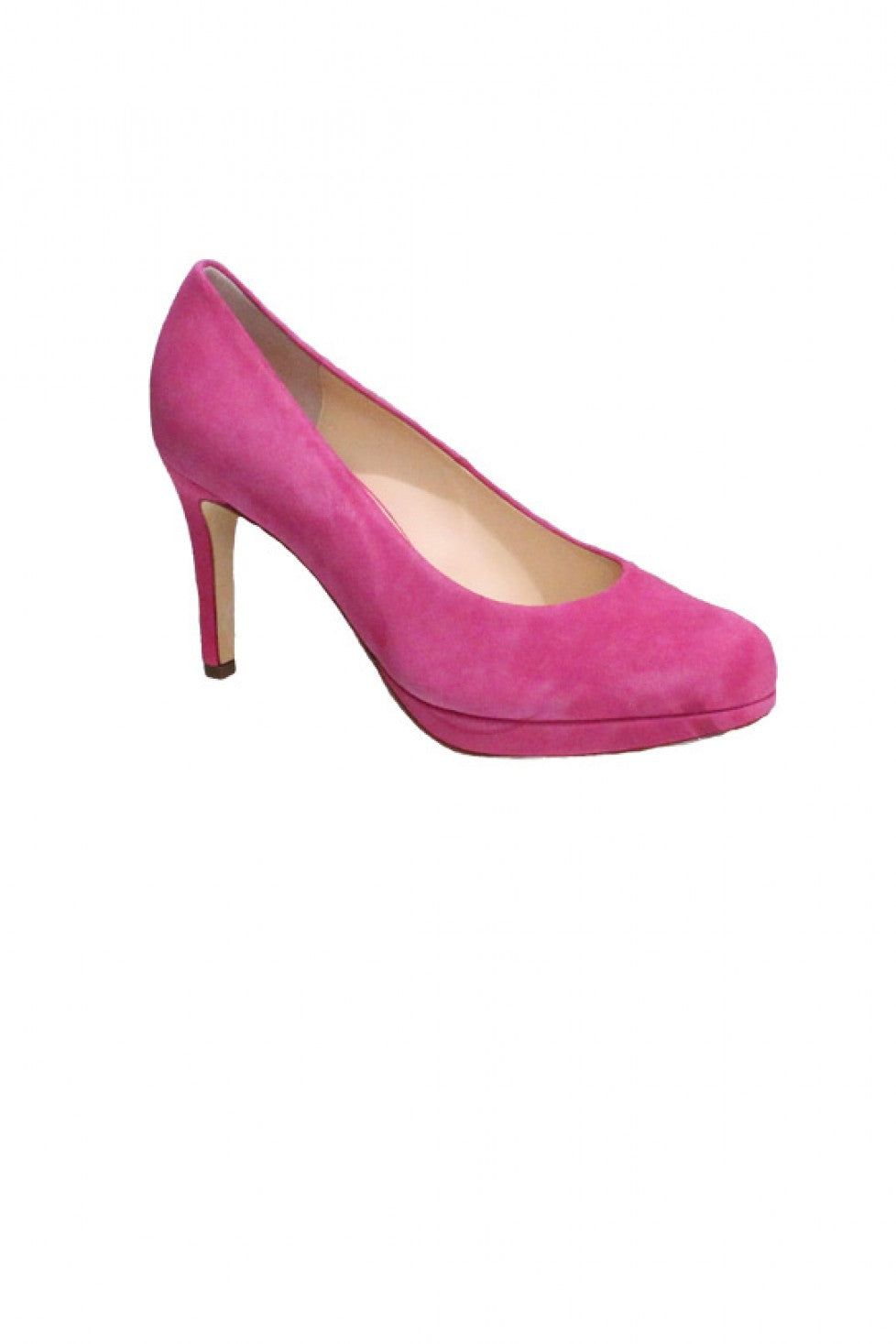 Pink Suede Hogl Heel Style and Grace