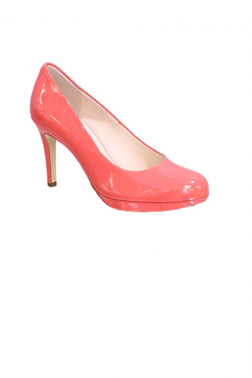 Coral Patent Hogl Heel Style and Grace