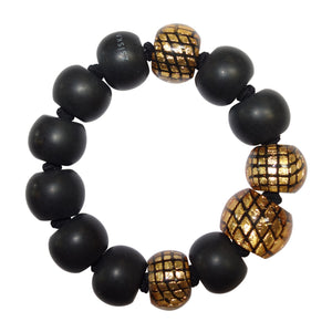 8190301GF01Q13 CITY BEADS gold/Black L #
