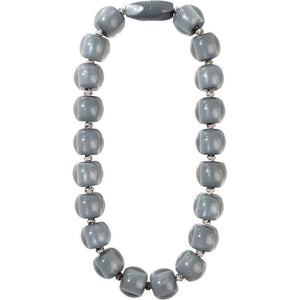 40101179189Q20 Necklace 117 colorfulbeads2 grey bead /grey cord