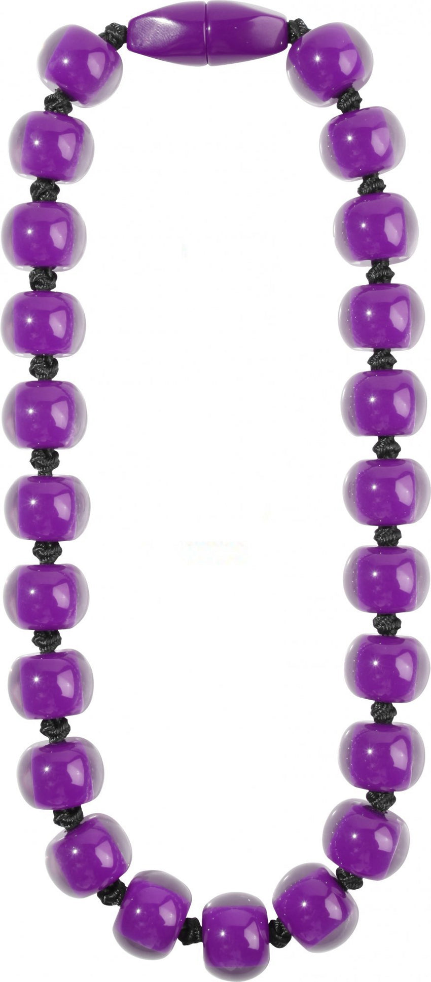 40101189018Q23 Colourful Beads Purple Bead Black Cord 9018 Q23