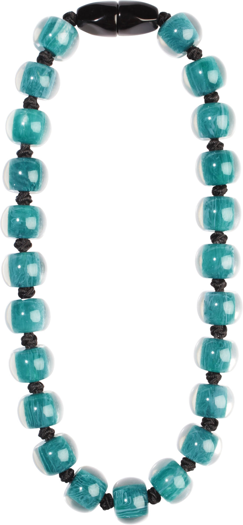 40101189197Q23 Colourful Beads Blue Beads Black Cord 9197 Q23