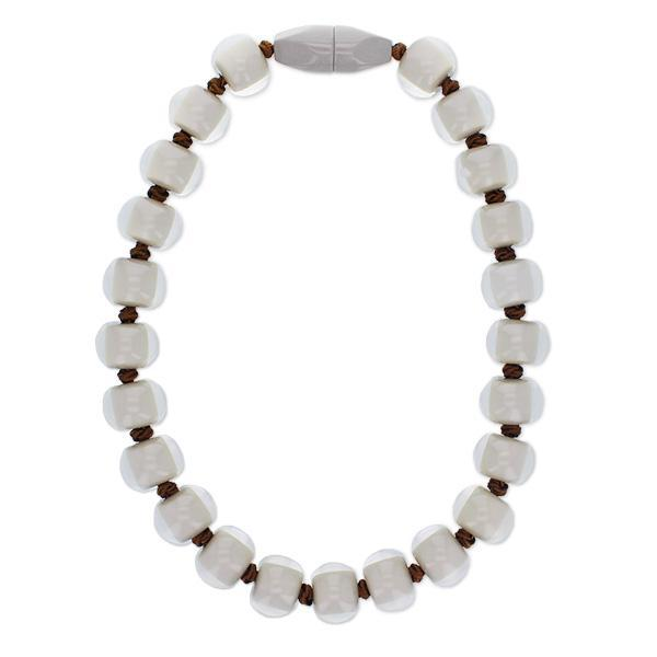 4010118GR02Q23 Colourful Beads Grey Beads Brown Cord GR02 Q23