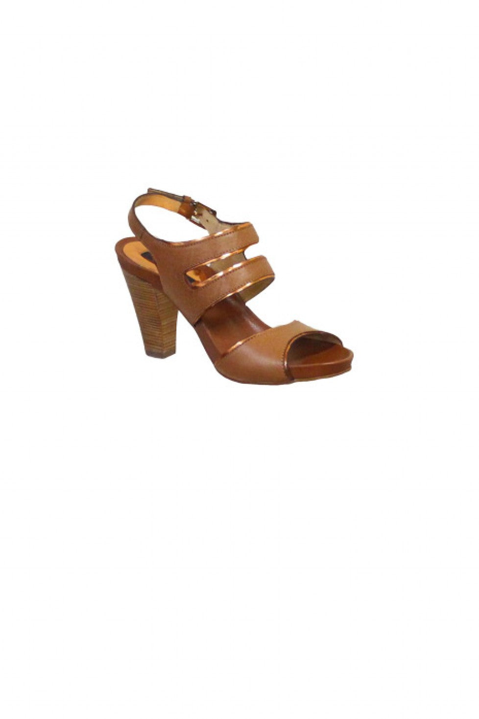 Tan Gold Zinda Sandal Heel Style and Grace
