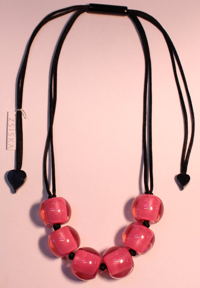 40101209017Q06 Colourful Beads Pink Bead Black 9017