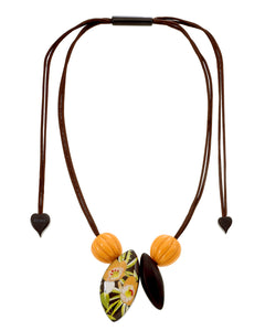 9260102ORANQ04 Aloha Necklace 102 Orange