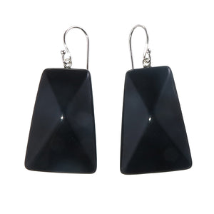 9300502BLAKQ00 earring HERRERA 1bead shorthook, black
