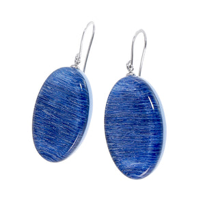 9330502BLUEQ00 earring ELIA 1beads shorthook, blue