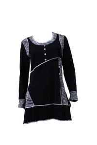 Black Caroline Morgan Patch Dress Style and Grace