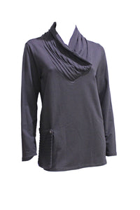 Black Chalet Tunic with Detachable Pocket Style and Grace