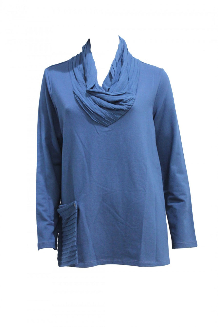 Blue Chalet Tunic with Detachable Pocket Style and Grace