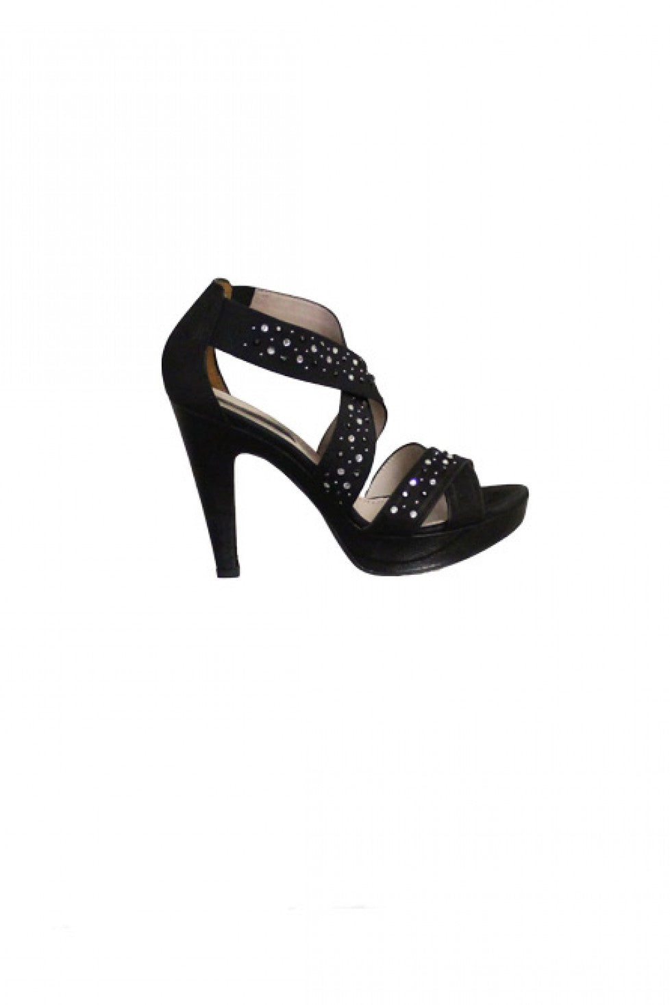 Black Studded Progetto Sandal Heel Style and Grace