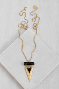 GLN013 Arrow Glam Necklace/Gold