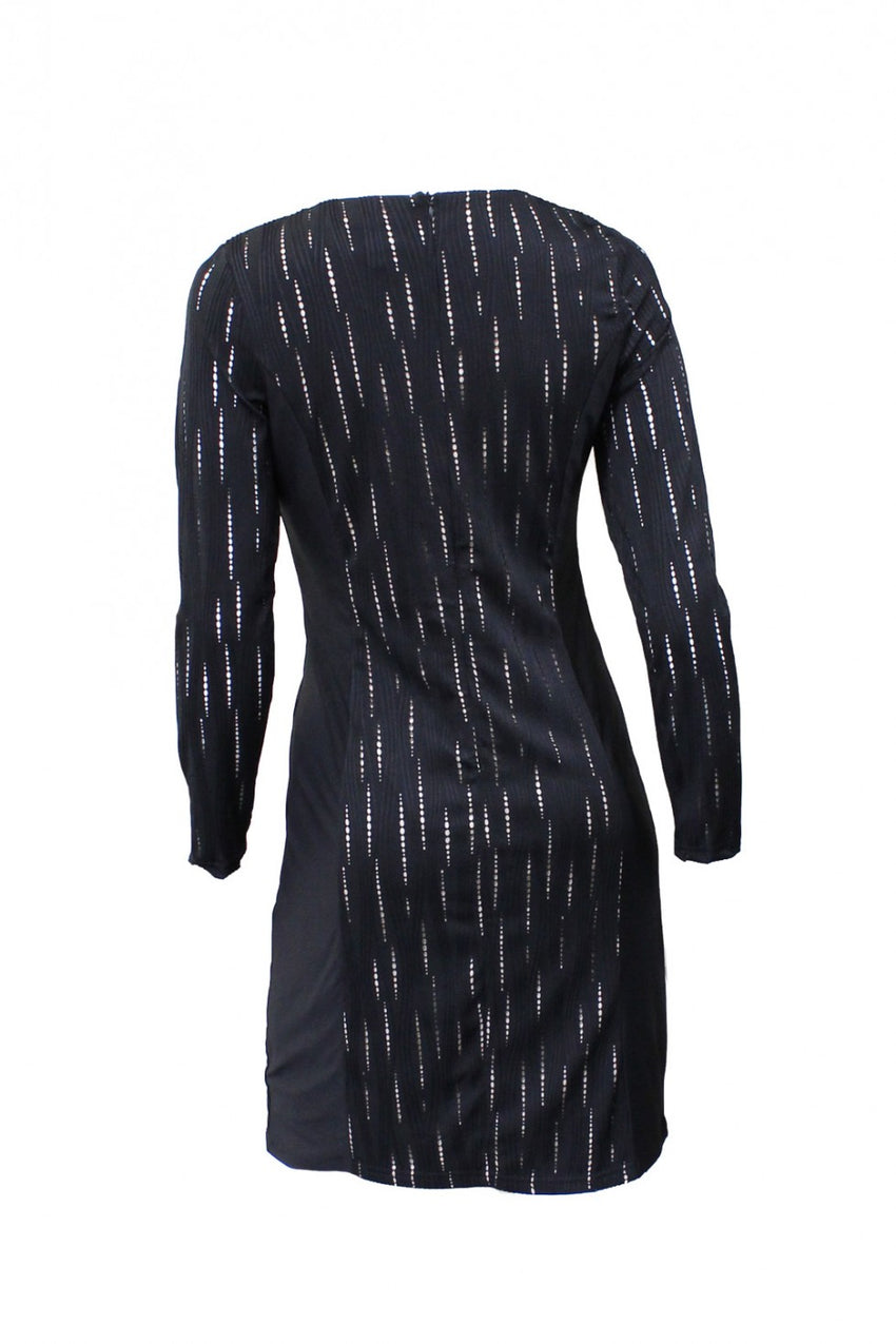 Black Long Sleeve Teaberry Dress Back Style and Grace
