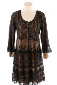Long Black Lace Elisa Cavaletti Jacket Dress Style and Grace
