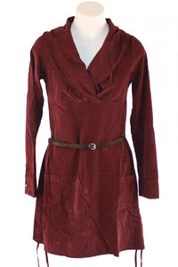 Bordeaux Tie Detail La Fee Tunic Dress Style and Grace