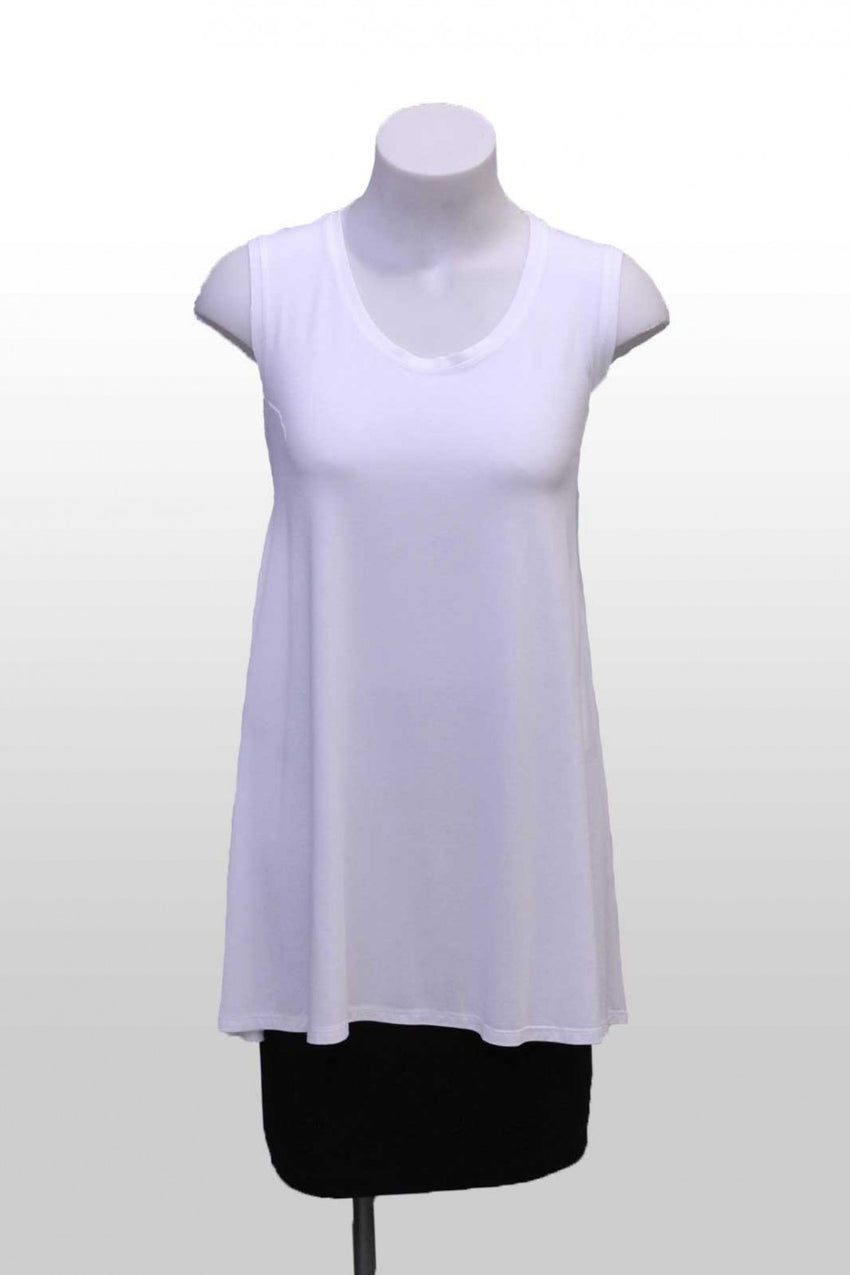 White Loose Mela Purdie Tank Top Front Style and Grace