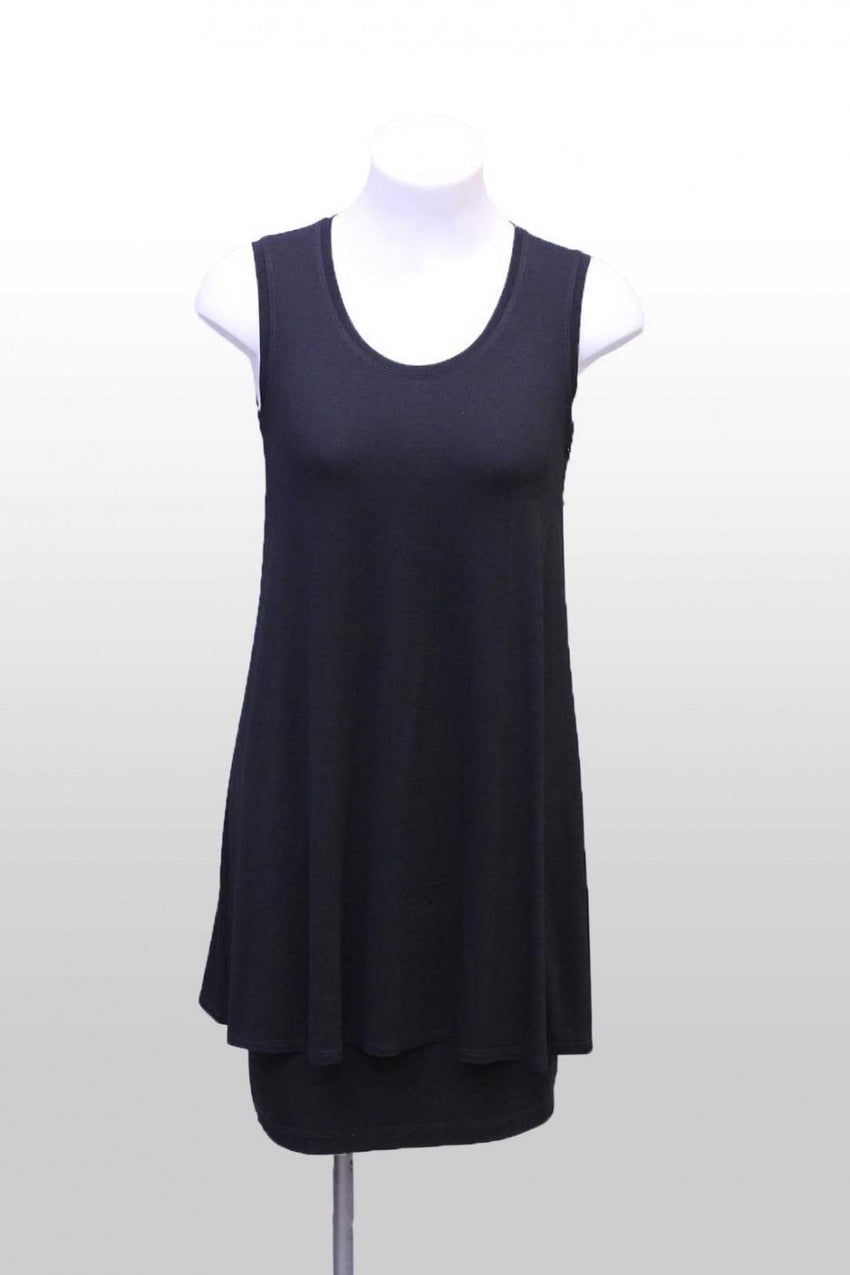 Black Loose Mela Purdie Tank Top Front Style and Grace