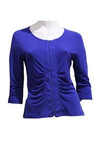 Cobalt Drama Jacket Style and Grace