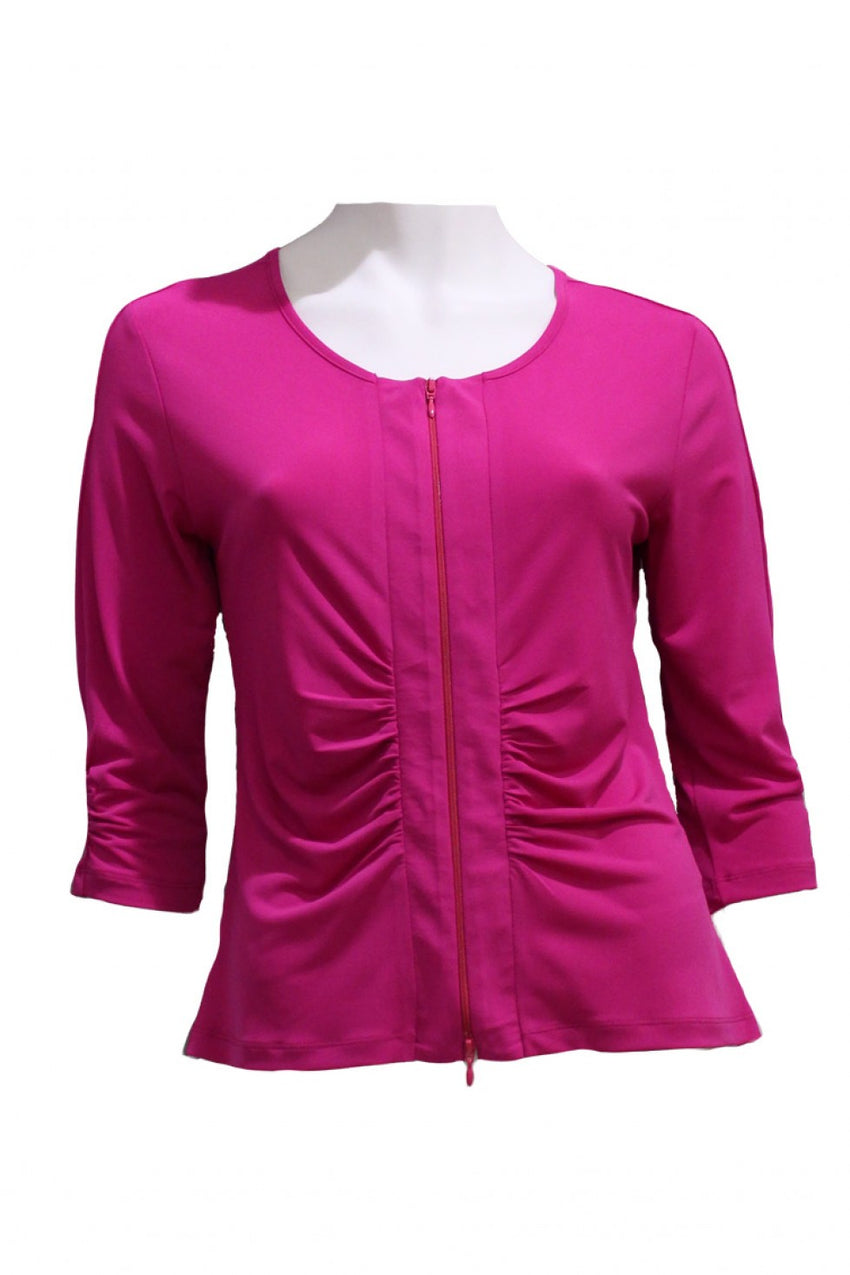 Fushia Drama Jacket Style and Grace
