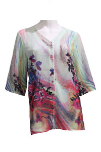 Multi Print Deion Shirt Style and Grace