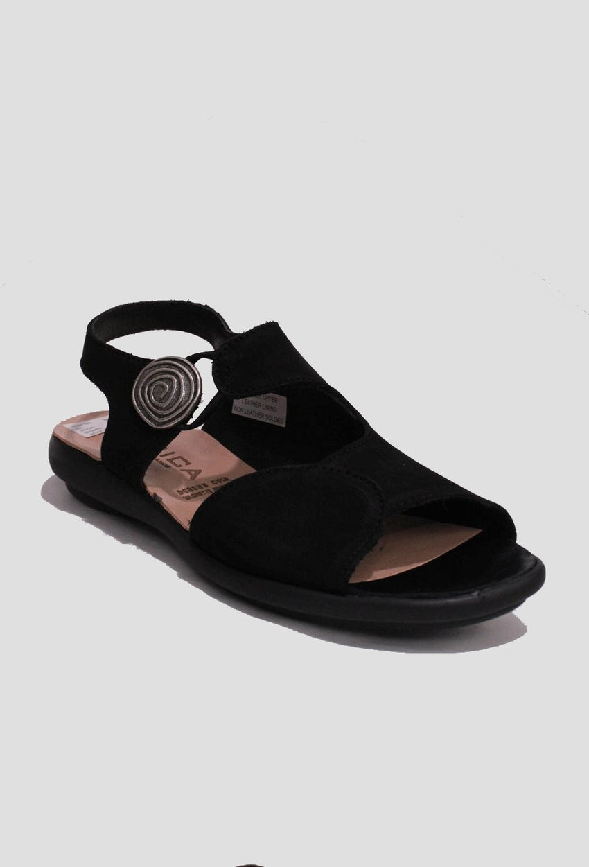 Black Hirica Sandal Style and Grace