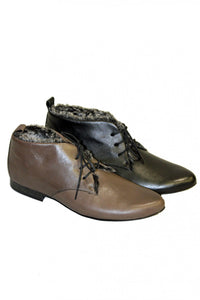 Nero Flat Karston Shoe with Laces Style and Grace