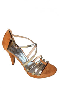 Tan Pepe Castel Strappy Heel Style and Grace